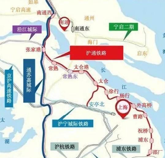 沪通长江大桥已经接近合龙:沪通城际铁路一期的建成也逐渐临近