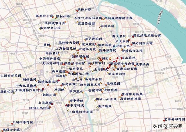 上海热门小区换手率图鉴,最高达124%