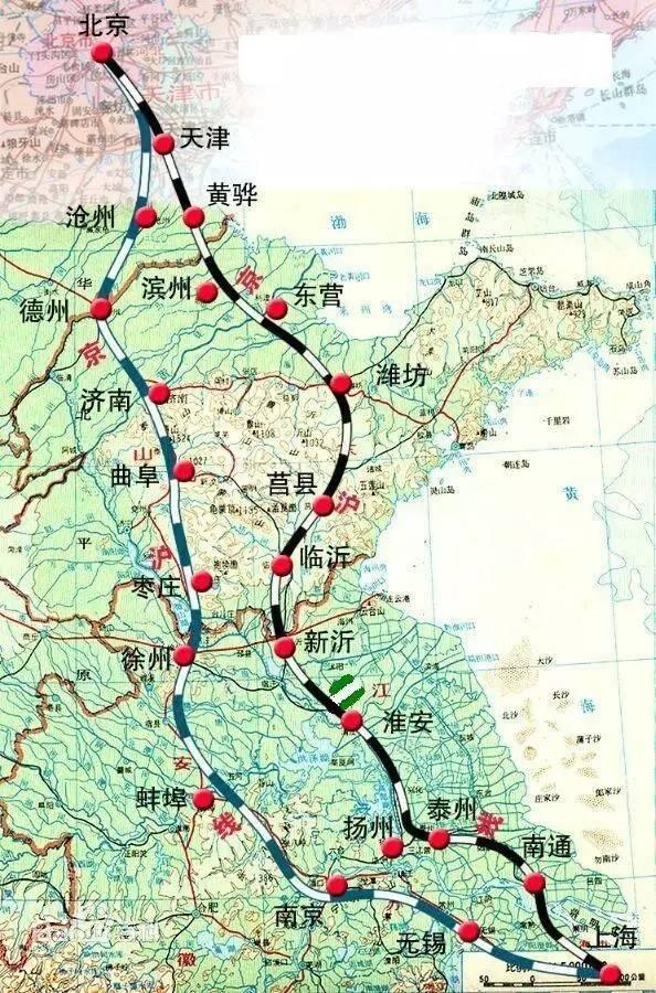 上海热线HOT新闻 京沪高铁二线要来啦 不到6小时,沿途14站,一站比一站美