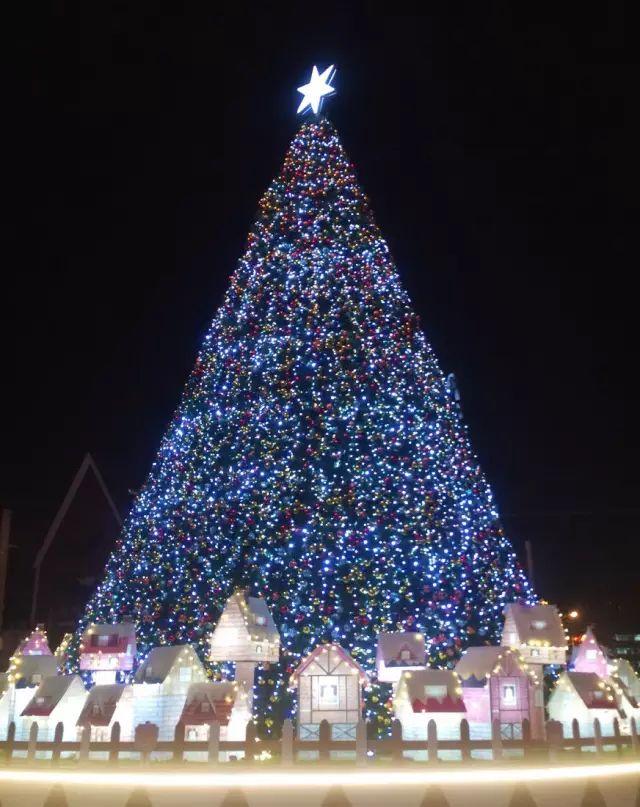 http://hot.online.sh.cn/images/attachement/gif/site1/20171206/IMG90fba601717146251918548.gif /enpproperty-->   经典圣诞树   紫荆广场    圣诞树四周围绕着一圈木质栅栏,栅栏内一幢幢温馨的北欧小房子俏皮又可爱,圣诞老人在其中时不时地出现一下。    三层楼高的圣诞树,每晚亮灯之时尤为瞩目,星光璀璨,照亮了整个紫荆广场。