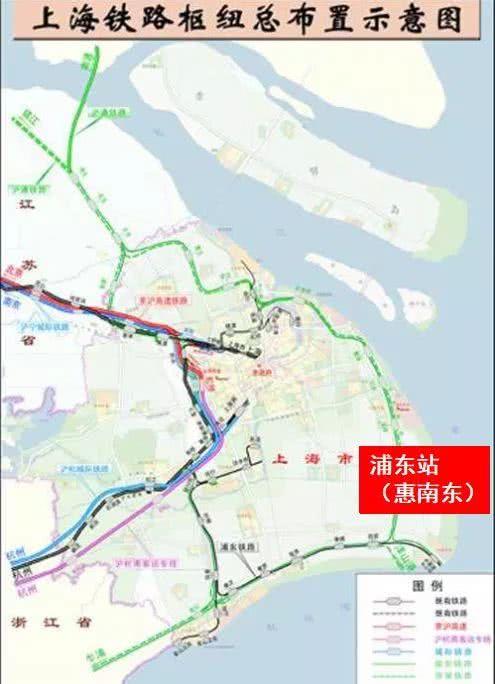 因此,2003年以后的规划图上,浦东火车站被外移到了今天16号线惠南东的