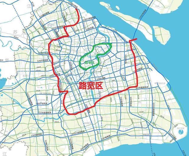 上海路窄的土地只占城市面积一