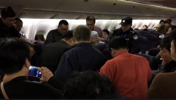 飞往纽约的国际航班上升舱