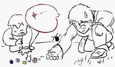 可爱简笔画五个小人
