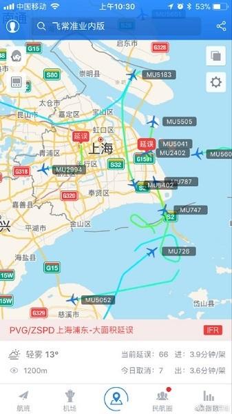 同时,虹桥机场虽也有大雾,但航班起飞情况正常,暂无本场原计划航班