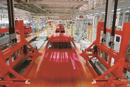 大众汽车生产流水线.嘉定区供图
